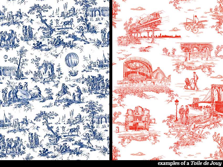 Wallpaper cabinet de l 39 extr me orient domestic memories for Housse de couette toile de jouy