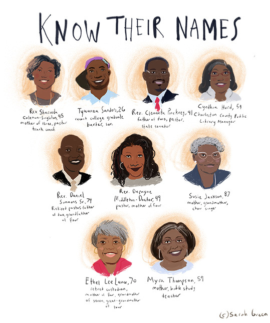 men and women killed in Charleston shooting